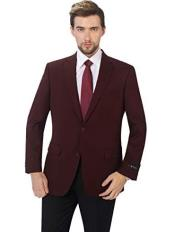 Classic Fit Sport Coat Suit Jacket Blazer Burgundy