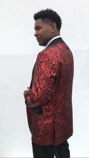 Mens Blazer + Red