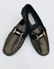 Mens Two Toned Slip On Black