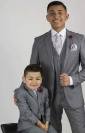 Suit For Boy / Guys Light Grey