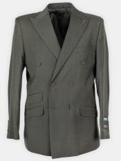 Peak Lapel Solid Double Breasted Suit