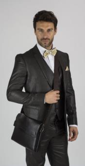 Brown Notch Lapel 3 Piece Graduation