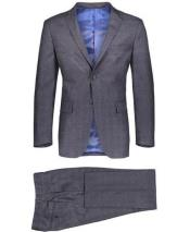 Gray Single Breasted Graduation Suit For