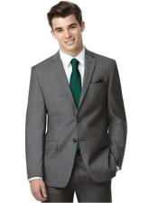 Flap Pockets Side Vent Slim Fit Grey Graduation Suit