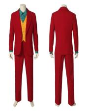 Mens Red Single Breasted Peak Lapel