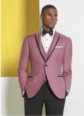 Notch Lapel Rose Gold Suits