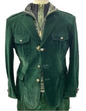 Mens Hunter Green our Flap Front