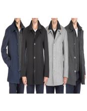 Classic-Fit 2-in-1 Wool Blend Bibbed Car Coat
