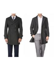 Front-button closure Wool Peacoat