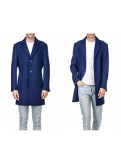 Wool Peacoat Three Quarter Carcoat