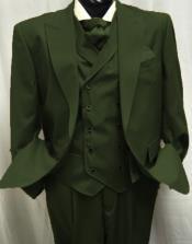 Olive Green Peak Lapel Suit Perfect