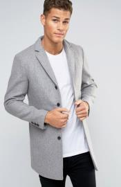 Mens Light Grey ~ Wine Three Button Single Breasted