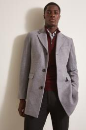 Light Grey ~ Wine Notch Lapel One Chest Pocket