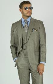 Double Breasted One Chest Pocket 3 pc Suit for