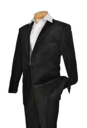 Velour Blazer Jacket Mens High