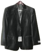 Black Luxurious soft velvet Coat velour