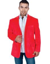 Red velour Blazer Jacket for Men