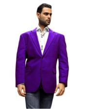 Purple Super 150s velour Blazer Jacket