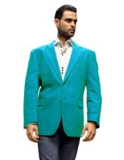 Velour Blazer Jacket turquoise ~ Light