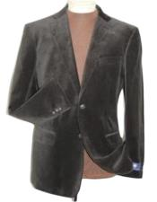 velour Blazer Jacket Brown Velvet Cheap