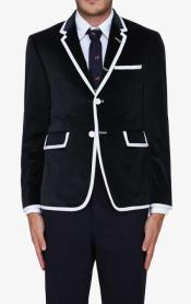 Black Classic velour Blazer Jacket