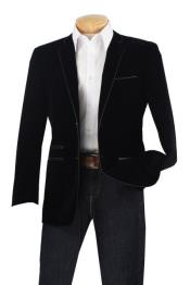 Velour Blazer Jacket Mens Luxurious Velvet