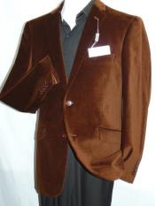 Velour Blazer Jacket  Mens Adolfo