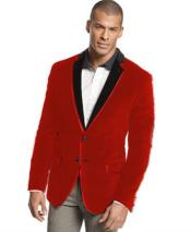 Velour Blazer Jacket  Two Tone