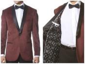Mens Burgundy Classy and Elegant Velvet
