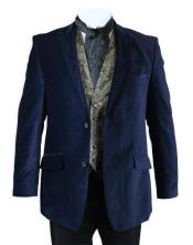 Velour Blazer Jacket Velvet Smoking Midnight