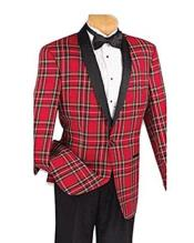 and & Tall Red and Black Pattern Blazer Sport
