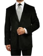 Velour Blazer Jacket Black Kids Sizes