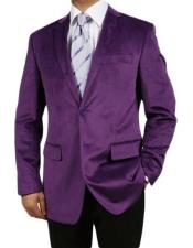 Mens Purple Fashionable Polish Velvet Velour
