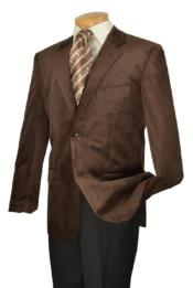 Mens High Fashion Brown Fine Slim