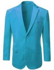 Velour Blazer Jacket Mens American Regular-Fit