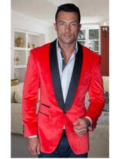 Sport Coat Jacket Mens Red Shawl