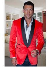 Sport Coat Jacket Mens Red Shawl