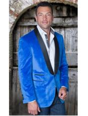 Sport Coat Jacket Mens Royal Shawl