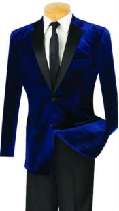 Mens Slim Fit velour Blazer Jacket