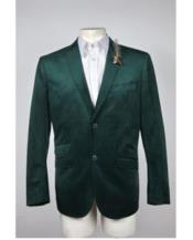 Mens Green Velvet Blazer Mens 2