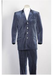 Blue4ButtonCheapPricedCasualVelourBlazerforMen