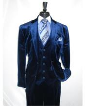 Mens Dark Navy velour Blazer Jacket