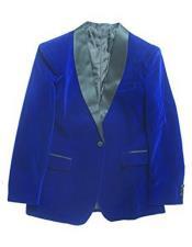 Blue Velvet velour Blazer Jacket Tuxedo