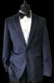 Mens 2 Buttons Black Trimmed Lapel