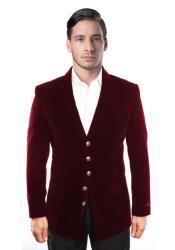 Blazer Jacket Mens 5 Button Dark Burgundy ~ Wine
