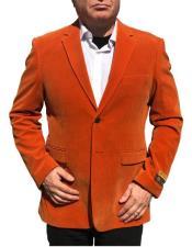 Nardoni Brand Orange Velvet ~ velour Blazer Jacket~ Sport