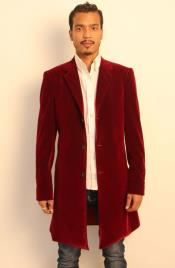 Burgundy Discounted Cheap Priced 2020 Style Overcoats