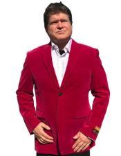 Hot Pink ~ Fuchsia Tuxedo velour Blazer Jacket