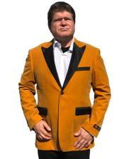 Nardoni Brand Gold Velvet Tuxedo velour Blazer Jacket Available