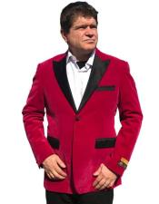 Hot Pink ~ Fuchsia velour Blazer Jacket ~ Sport